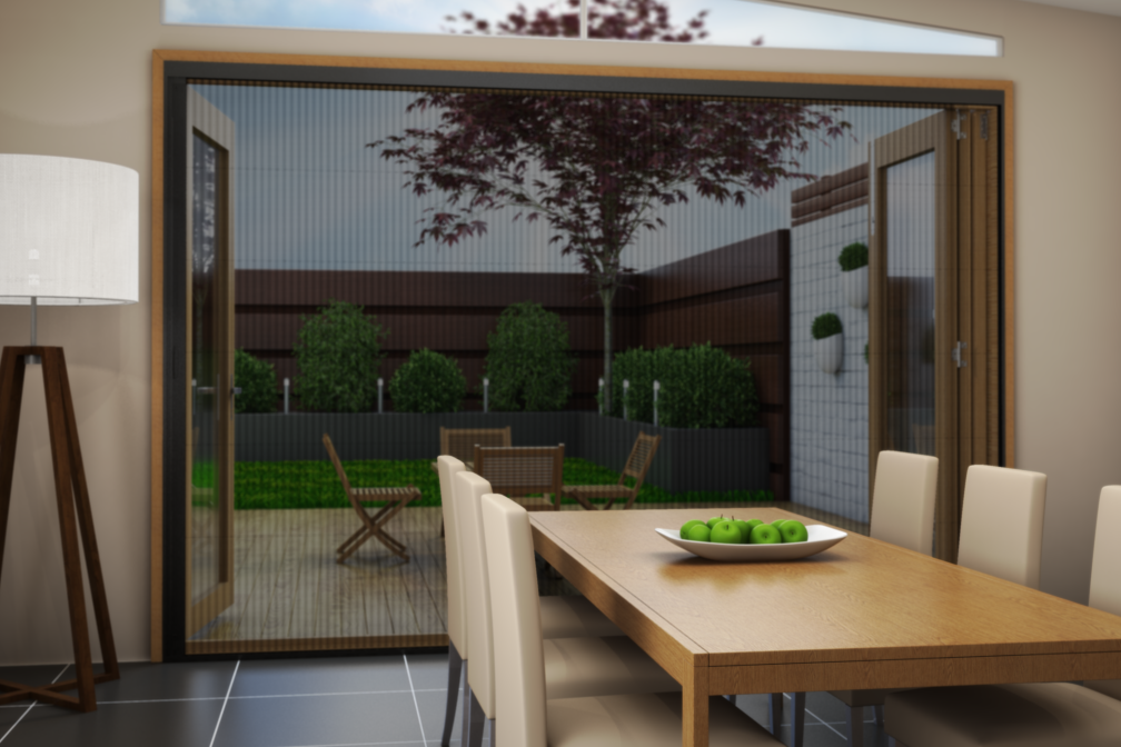 Brio 612 retrofit retractable screen is here brio for Accordion retractable screen doors