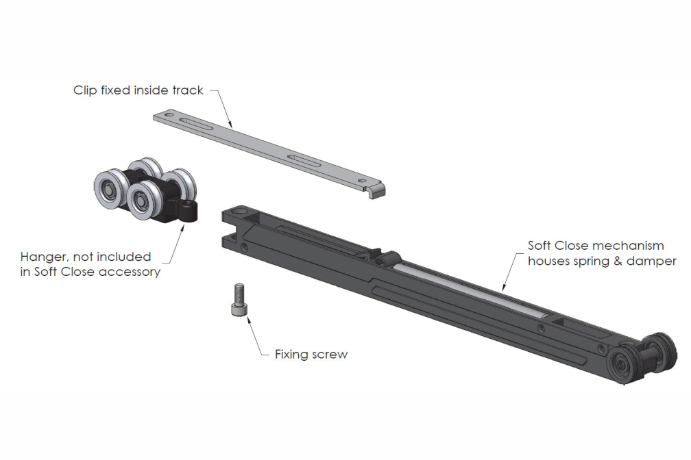 Straight Sliding Door Hardware, Sliding Tracks