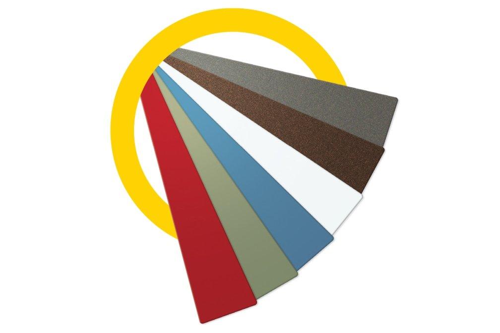Coloured pelmet, fascia, straight sliding, Zero Clearance 60, Dulux